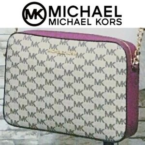 🆕️Michael JetSet Large Messenger MM Bag